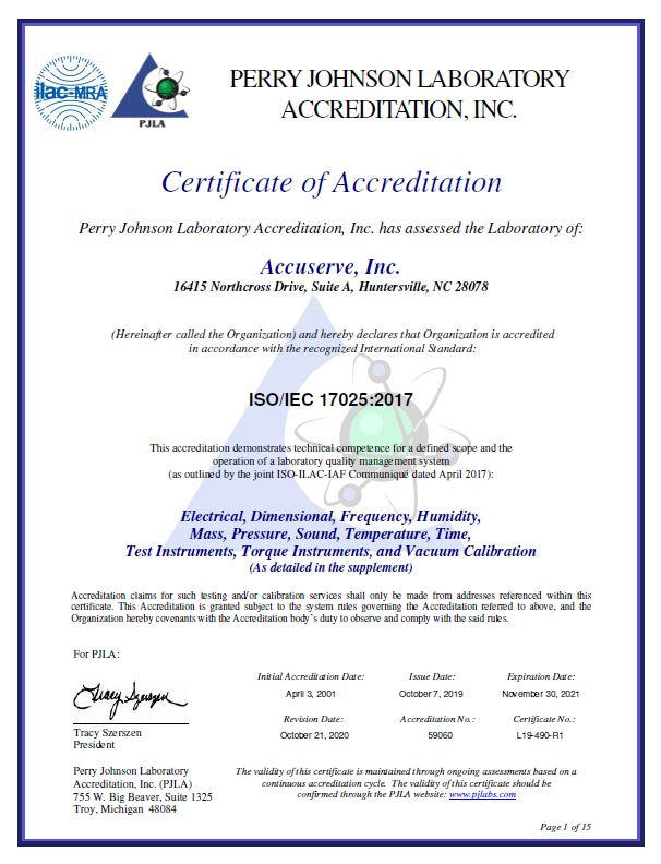 Iso 17025:2017 Accreditation Received